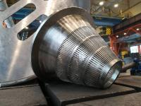 Производство сплавов цветных металлов Уралэлектромеди изготовило конус-сито для купоросного цеха